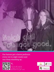 Faces of Farming Campaign: Neigh Girl! You look good.